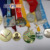 wholesale custom made souvenirl hight polish silver metal  award medal 2.5 inch Ribbons of all colors