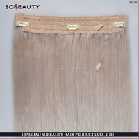 Europear hair 150g 200g 20inch remy human hair silky straight one piece halo hair extensions