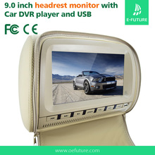 Headrest Placement and MP3 / MP4 Players Combination 9 inch headrest Car Monitor