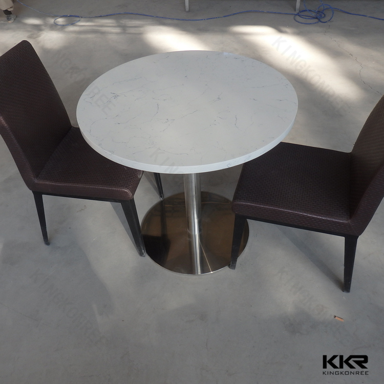 artificial marble table top cafe tables and chairs