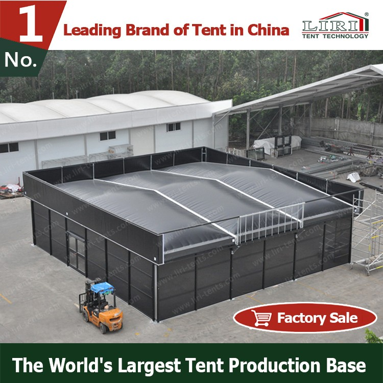 Heavy duty black aluminum frame inflatable flat top cube tent structure for event