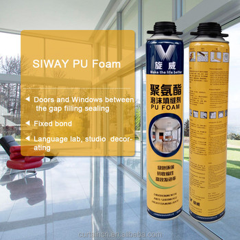 750ml High Quality Window And Door Use PU Foam Sealant White