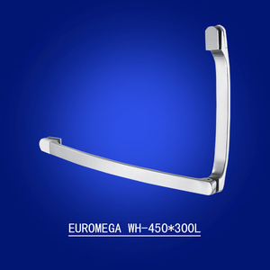 Durable shower door towel bar handle