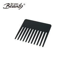 Plastic Black wide tooth beard shaping tool/Beard Styling and Shaping Template Comb Tool/ Beard Styling Template