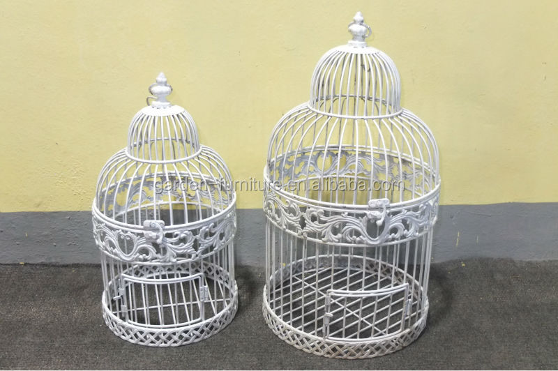 handicraft shabby chic hanging painted white bird cage wedding bird cage wholesale decorative. Black Bedroom Furniture Sets. Home Design Ideas