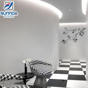 Best service full body Royal Unique Design Pure Black White plaid nice decoration Polished Porcelain Tiles in foshan