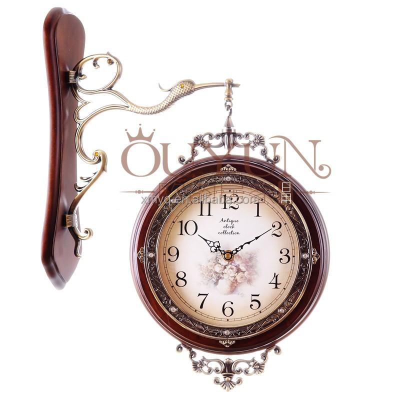 wood craft wall clock handmade quartz clock framed buy quartz wall clockswall clock framed product on alibabacom
