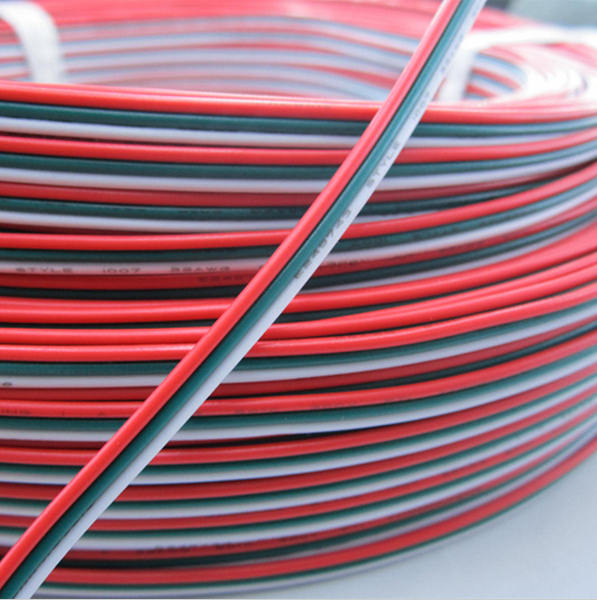 3pin PVC Insulated Wire 22awg Tinned <strong>Copper</strong> Extension Cable 3 color Red Green White Electrical Wire