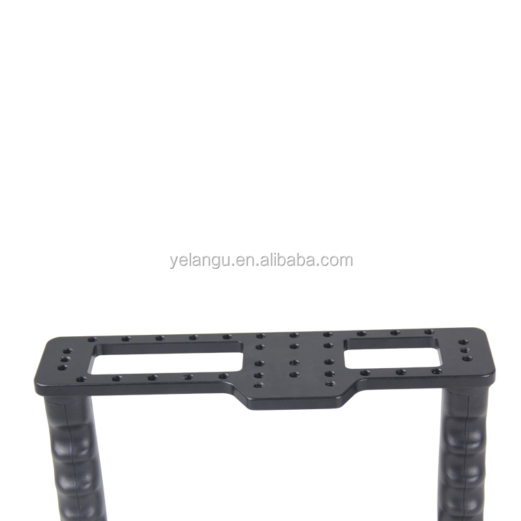 YELANGU Aluminum Camera Video Cage Kit with Video Cage Top Hand Grip15mm Rod for Canon 5D mark II/ 5D mark III