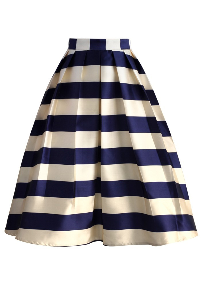Latest Design Women Skirts Casual Custom Pleated Midi Full Skirt ...