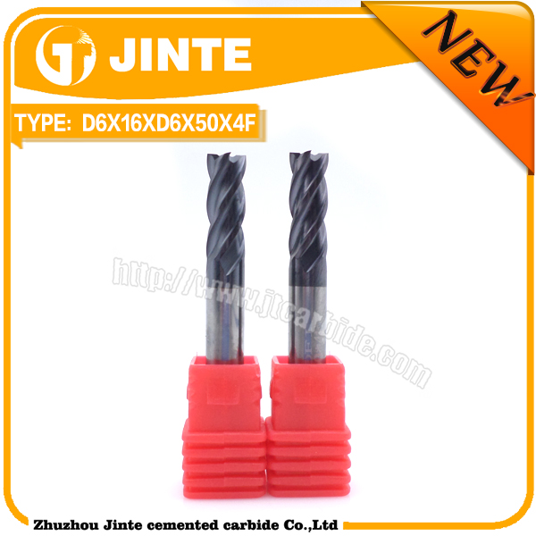 D6X16XD6X50X4F Solid <strong>Carbide</strong> For Metal Cnc Cutting Tools Square Milling Cutter end mill