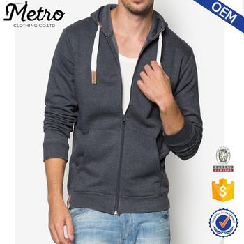 2c10c8d5f6f87f Dark Grey Zip up Plain Hoodies for Men Wholesale custom Design Hoodies