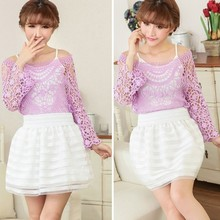 2015 New Charming Summer Casual Chiffon Elegant Blouses and Skirts SV004116