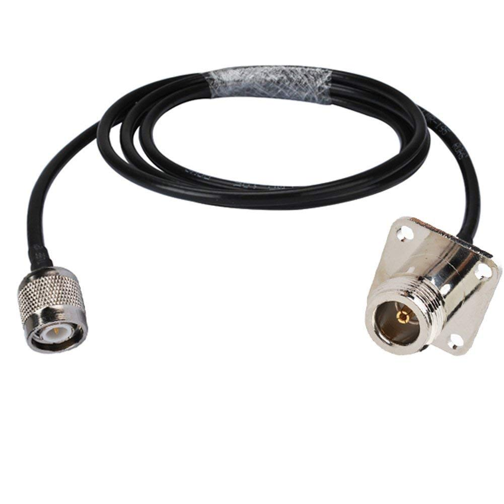 Pc-case 0.5ft Rf Electrical Wire Coaxial Cable Terminal Connector Rp-sma Female Bulkhead Straight to Rp-sma Male Right Angle Assembly Pigtail Extension Rg316 15cm Copper Conductor for Wireless Antenna
