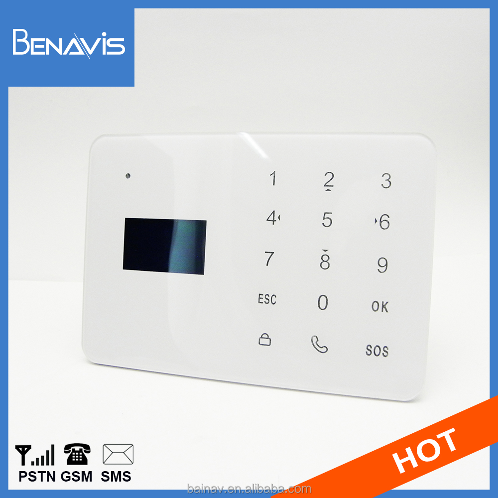 Touch Key Lcd Self Monitoring Gsm Intercom System Guard Manual Alarm