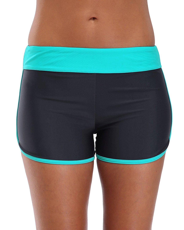 30dad42d43 Get Quotations · ATTRACO Women's Swim Shorts Sports Swim Bottom Tankini  Bikini Bottoms Modest