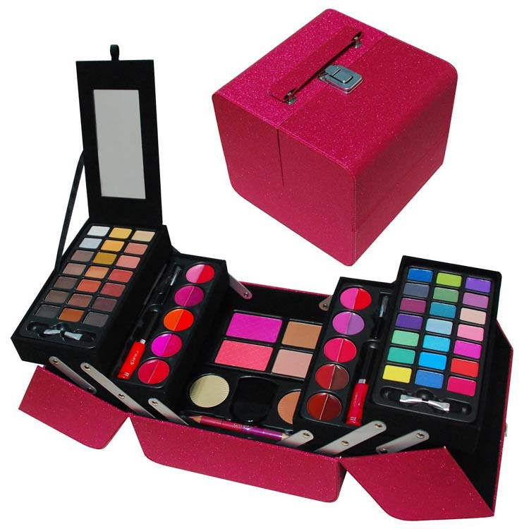 allinone makeup kit in highly fashionable red leather