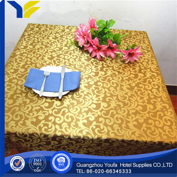 100% Polyester high quality Jacqurd advertising rubber table cloth