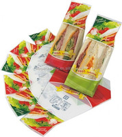 plastic bag/packaging/pouch for sandwich of suppliers