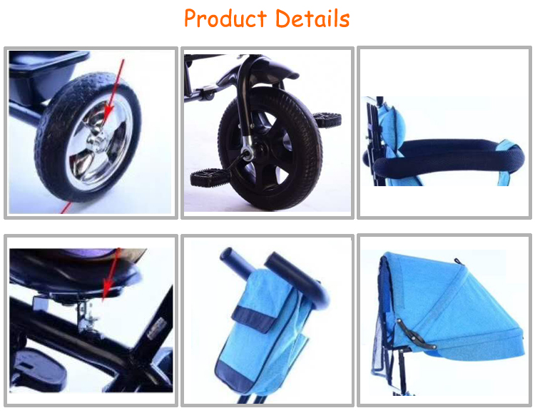 2019 China Factory wholesale 360 degree rotation children tricycle/baby tricycle