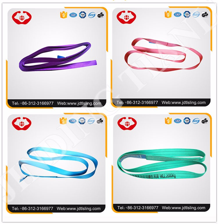 1t-20t 2t Polyester Lifting Slings 19x7 Steel Wire Rope 1.25 Inch ...