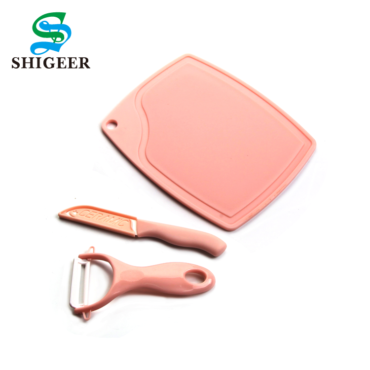 Factory Wholesale Customized Kitchen Use Multicolor Ceramic Vegetable Peeler Fruit Knife Set