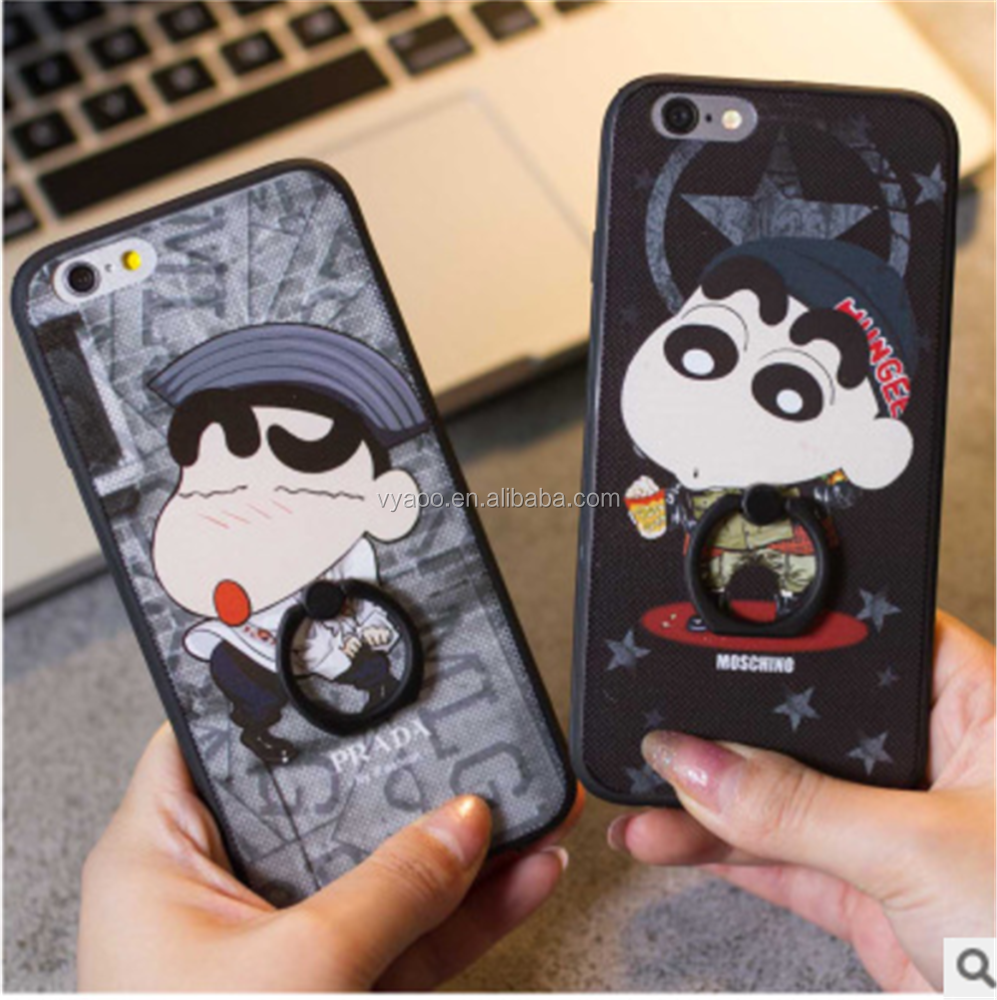 Best selling Creative cartoon design and sling buckle ring mobile phone shell apply phone 6s 7plus
