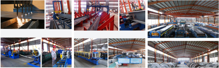famous prefabricated steel structure furniture/cooling/industrial warehouse building for professional design manufacture