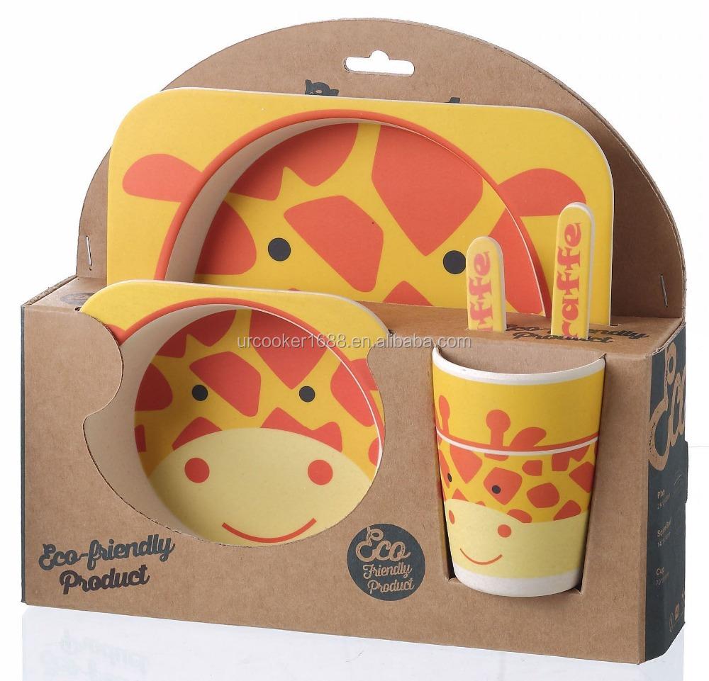 Eco Friendly Kids Dinnerware Set Children Bowl And Plates Tableware Set