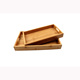 Eco-friendly melamine bottom rectangle breakfast bamboo tray set