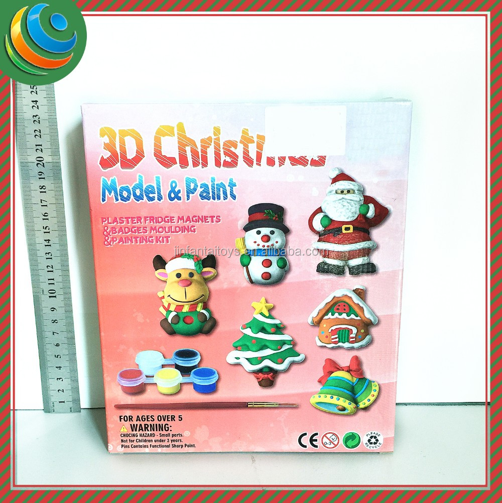 diy toy <strong>christmas</strong> gift diy craft kit Gypsum <strong>Christmas</strong>