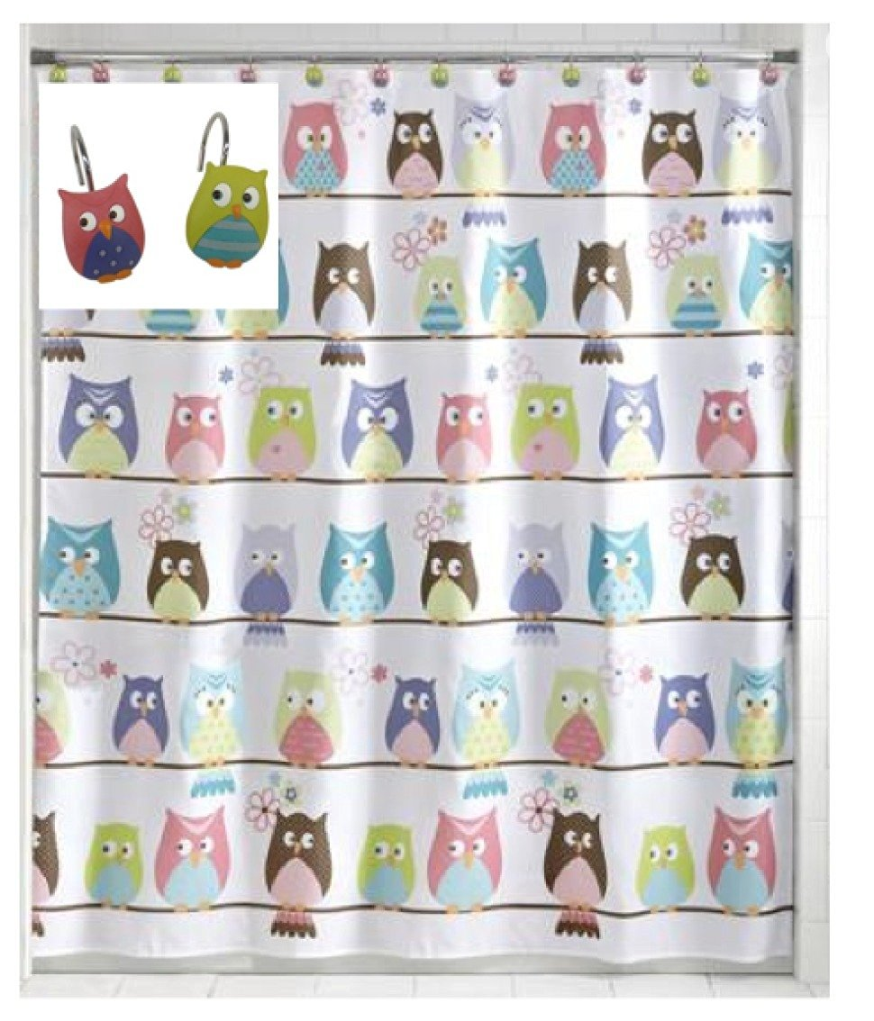 Buy Kids Shower Curtain Sets Owl Shower Curtain With 12
