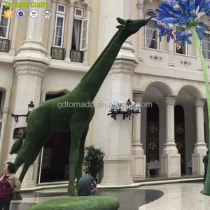 Guangzhou Plastic with UV protected decorative grass artificial topiary animal
