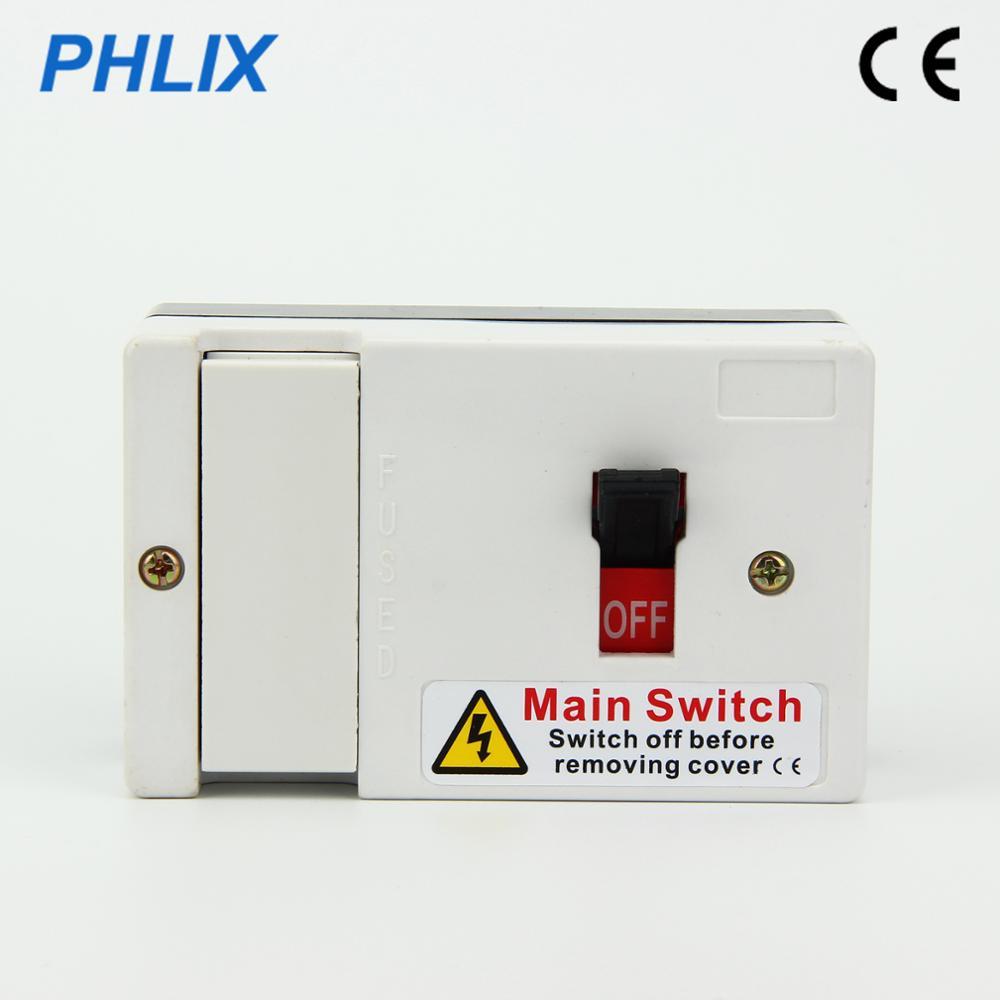 Fuse isolator switch Main switch 80A Bakelite switch box European type  surface mounted