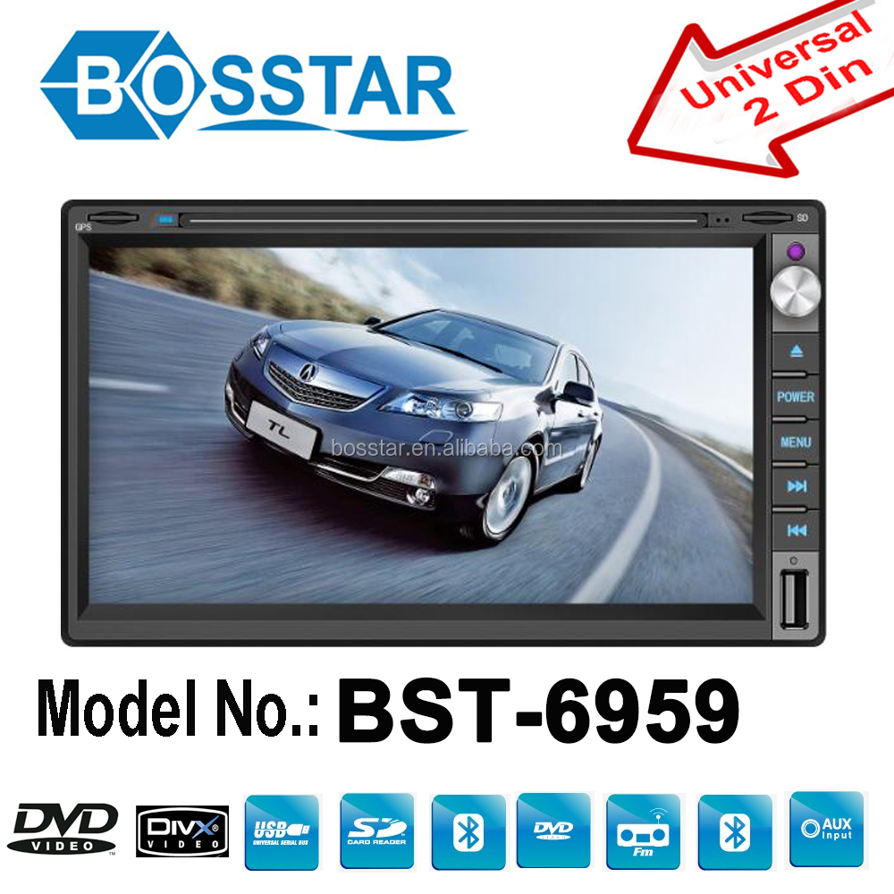 Best selling 6.2 inch touch screen 2din car audio gps dvd universal