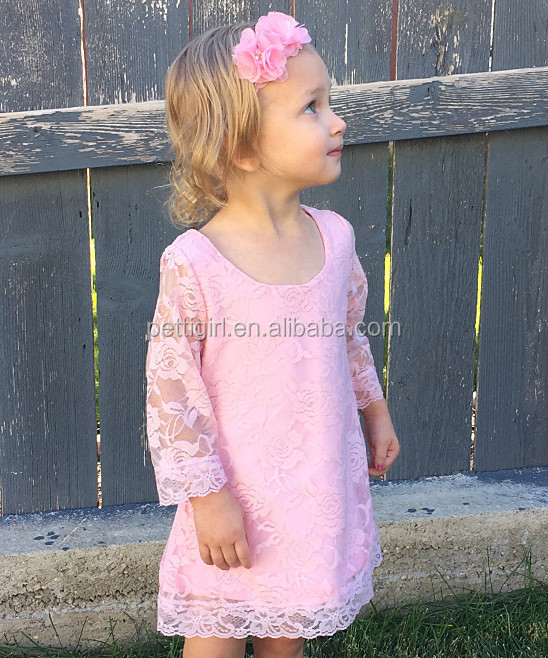 Hot Sale Girls Dresses With Pink Victorian Lace Sheath Dress Kids Lace Dress Girls Clothes NP-G-GD905-54