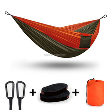 Wholesale Double parachute Waterproof lightweight folding camping hammock