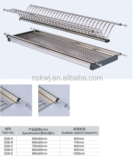 kitchen cabinet stainless steel dish drying rack,plate drying rack ...