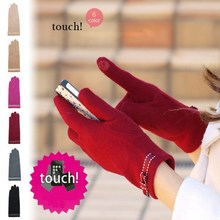 Fashion Women Winter Thermal Wool Iphone Gloves