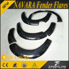 ABS Black Painted Car Wheel Arch Fender Flare For Nis san Navara Frontier D40 2015up