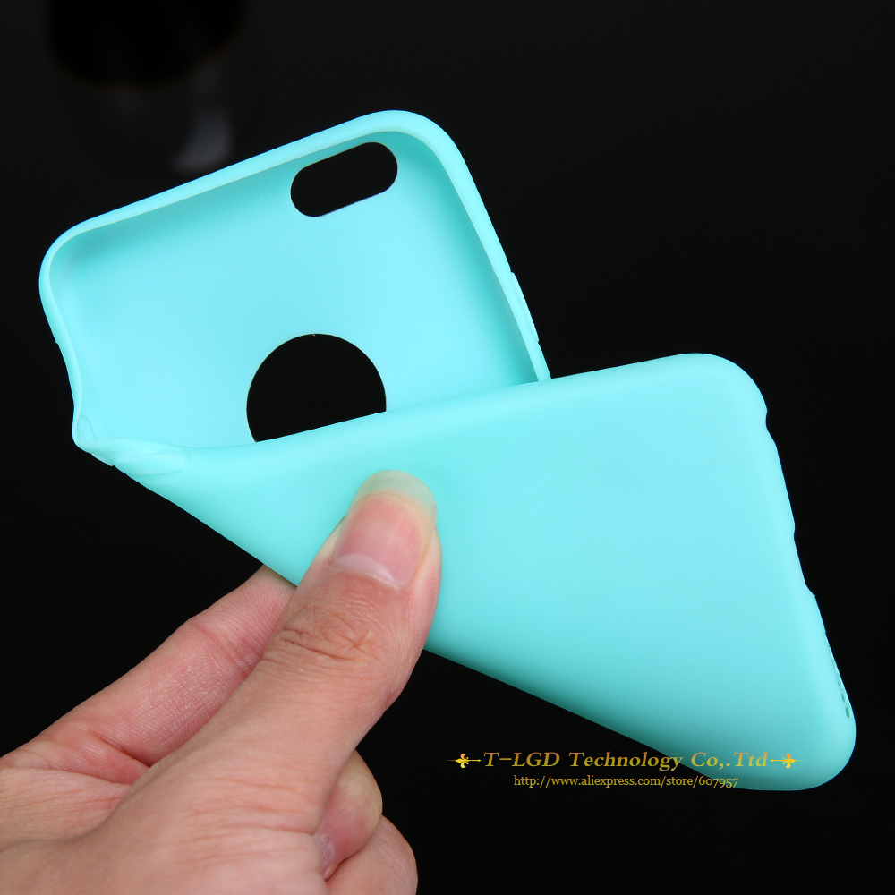 premium selection dd8d1 8e7a6 Soft Silicone Simple Back Cover Case Candy Color for Apple iPhone 6 4.7