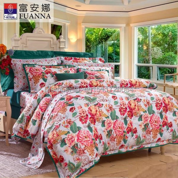 fu 39 an 39 na 2015 hot sale quilt bedding set duvet cover king size queen size pillow cases bed sheet. Black Bedroom Furniture Sets. Home Design Ideas