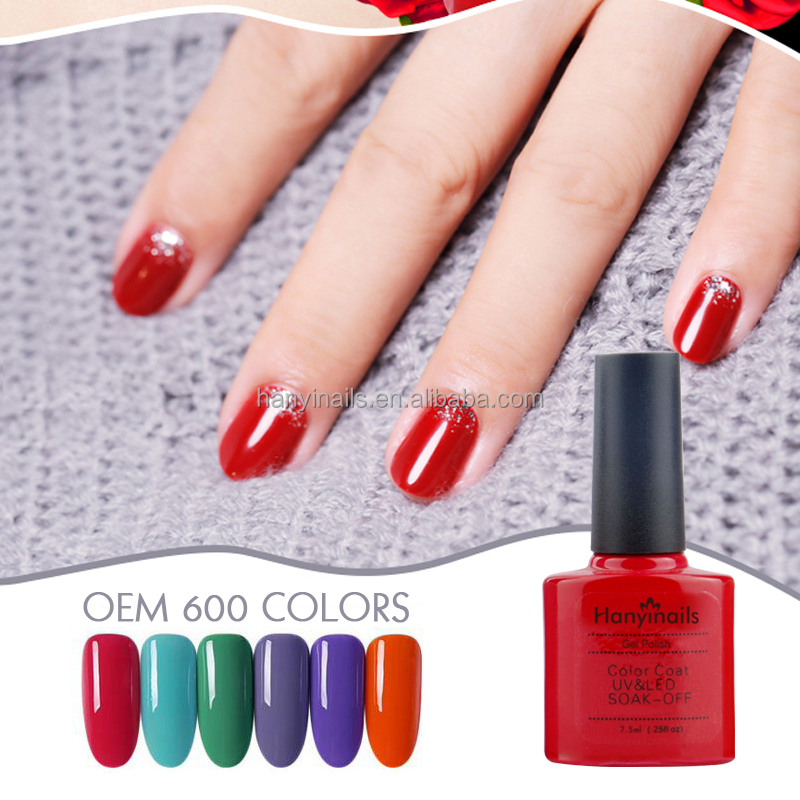O gel uv 600colors novo natural do verniz para as unhas 7.5ml personaliza a etiqueta confidencial