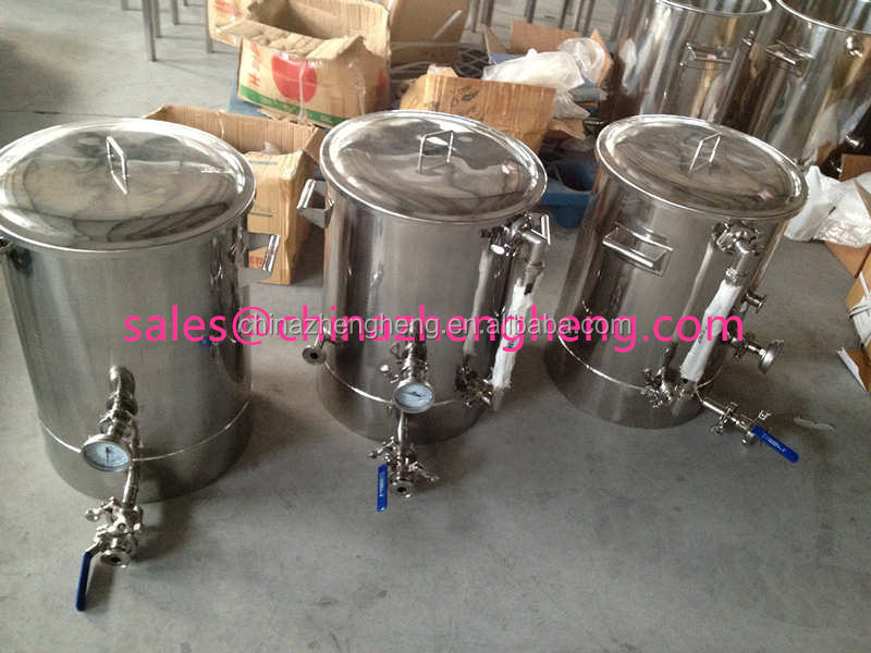 Mini used homebrew kettle stainless steel beer
