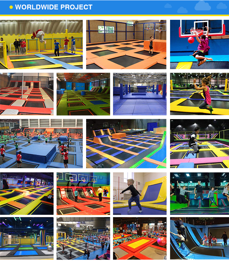 Wholesale kids big indoor trampoline parks for sale with foam blocks