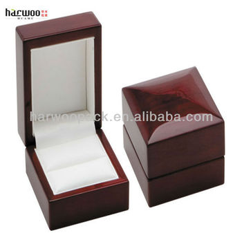 fancy wood diamond ring boxwood jewelry case - Cufflink Box