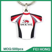 China Supplier custom metal souvenir bike jersey advertising key ring