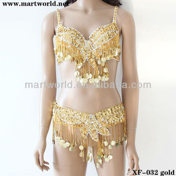 43d856761 2014 Shinning Gold Sequin Coin Beaded Bra And Belt(xf-032) - Buy ...