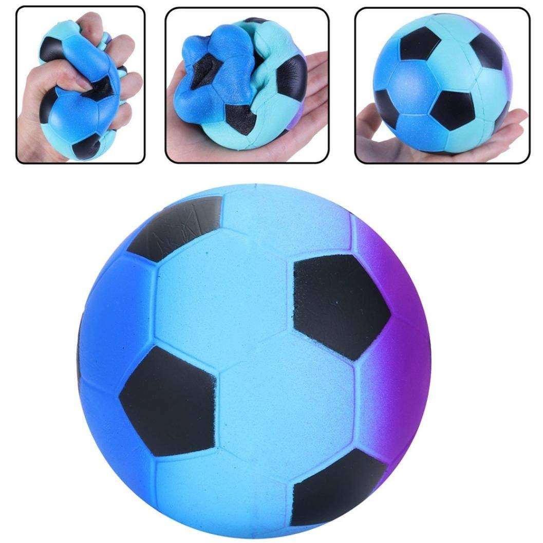 Squishy Toys, Cute Kawaii Soft Squishies Toy, Unicorn, Galaxy Football Stress Relieve Squeeze Soft Lovely Toy Kids Gift Fidget Toy Slow Rising Miniature Toys Decoration (about 3.5x3.5x3.5 inch, A)