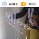 Plexiglass 10 Pieces Shot Glass Set Acrylic Drink Serving Tray Lucite Wine Glass Display Holder